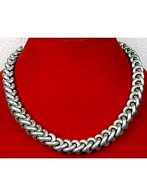 Heavy Sterling Rope Chain with Screw Clasp