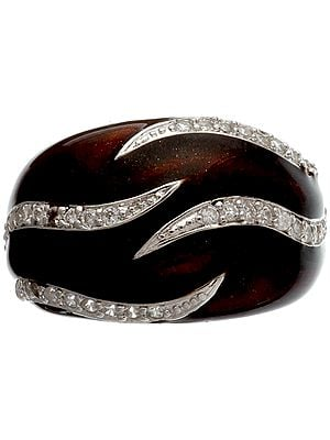 Inlay Ring with CZ