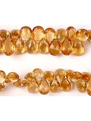 Superfine Faceted Citrine Briolette