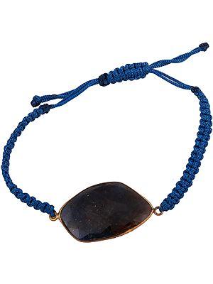 Faceted Labradorite Studded Cord Bracelet