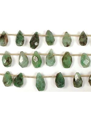 Emerald Faceted Drops