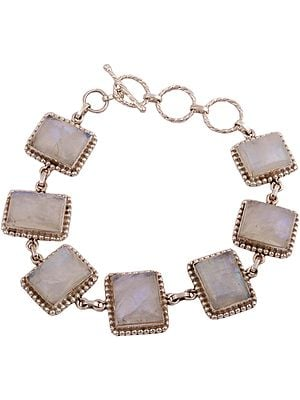 Rainbow Moonstone Embellished Princess Bracelet