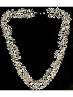 Rainbow Moonstone Bunch Necklace