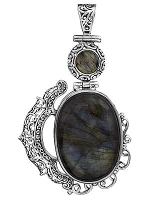 Twin Gemstone Pendant