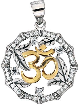 Holland-Rose OM (Aum) Pendant Studded with Zircon