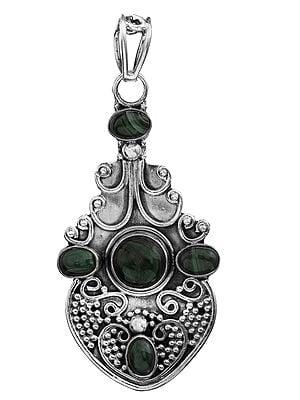 Gemstone Pendant with Granulation