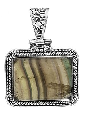 Gemstone Rectangle Pendant