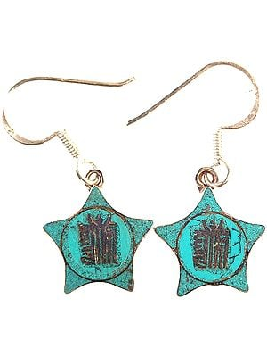The Ten Powerful Syllables of The Kalachakra Mantra inlay Earrings