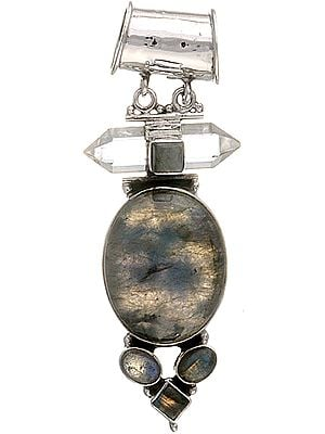 Labradorite Pendant with Crystal