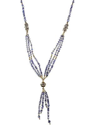 Faceted Iolite Necklace