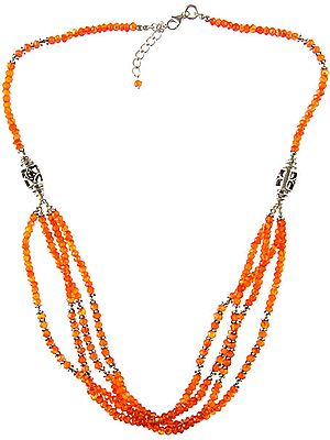 Faceted Carnelian Necklace
