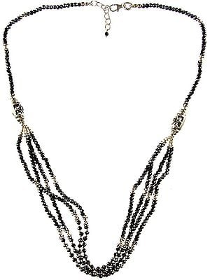 Faceted Hematite Beaded Necklace