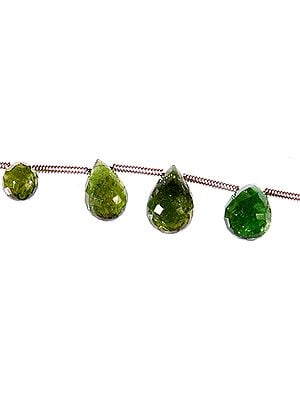 Faceted Green Tourmaline Drops