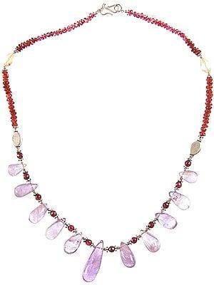 Gemstone Necklace (Amethyst, Garnet and Citrine)