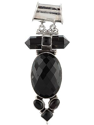 Faceted Black Onyx Pendant