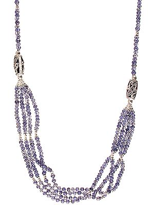 Faceted Iolite Beaded Bunch Necklace