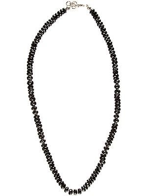 Faceted Black Onyx Beaded Necklace