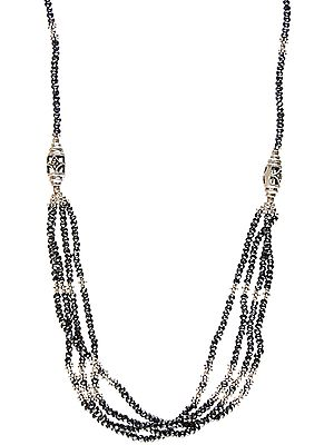 Faceted Hematite Four-Strand Necklace