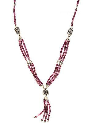 Faceted Garnet Beaded Necklace