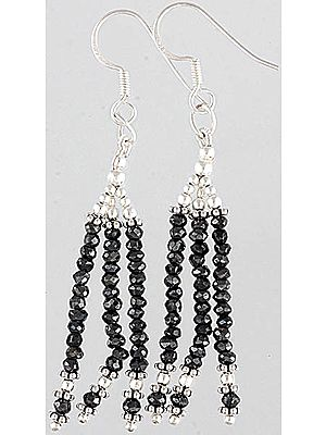 Hematite Beaded Shower Earrings