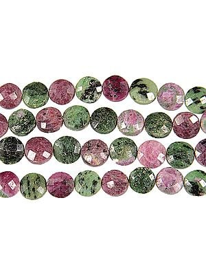 Faceted Ruby Zoisite Buttons