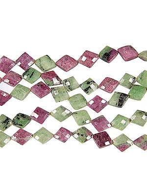 Faceted Ruby Zoisite Diamonds