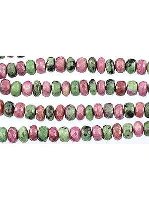 Faceted Ruby Zoisite Rondells