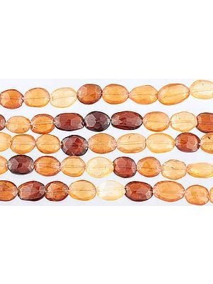 Faceted Hessonite Ovals