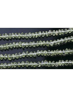 Faceted Peridot Rondells