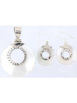 MOP Pendant with Earrings Set