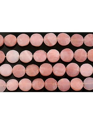 Faceted Pink Opal Large Buttons