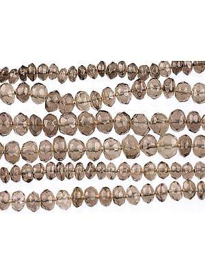 Faceted Smoky Quartz Beads