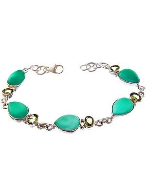 Green Onyx Bracelet with Peridot