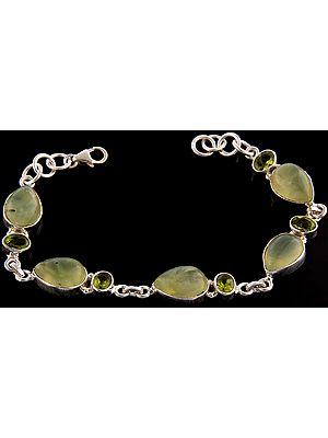 Prehnite Bracelet with Peridot