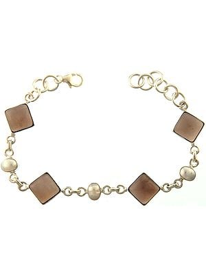 Smoky Quartz Bracelet with Pearl