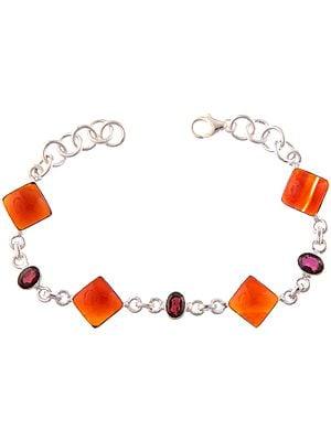 Carnelian Bracelet with Garnet