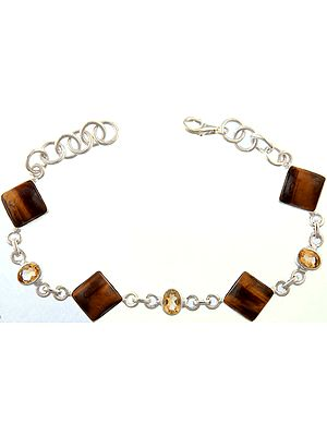 Tiger Eye Bracelet with Citrine