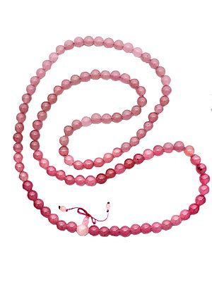 Rose Opal Mala (Rosary) of 108 Beads for Chanting