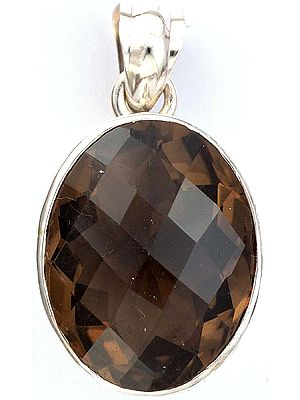 Faceted Smoky Quartz Pendant