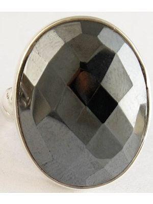 Faceted Pyorite Ring