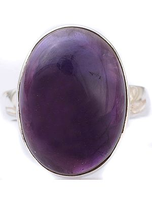 Oval Amethyst Sterling Silver Ring