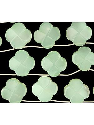 Carved Green Chalcedony Flowers