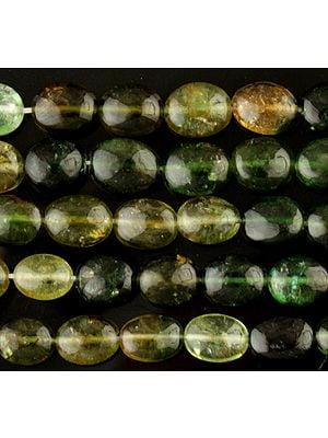 Green Tourmaline Plain Ovals