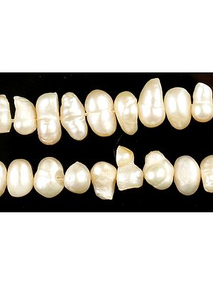 Centrally Drilled Multi-shaped Pearl Strand
