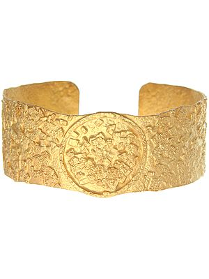 Frosted Sterling Gold Plated Bracelet