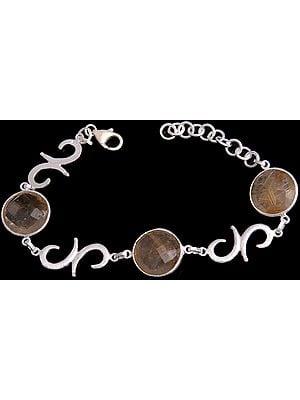 Faceted Rutilated Quartz Bracelet