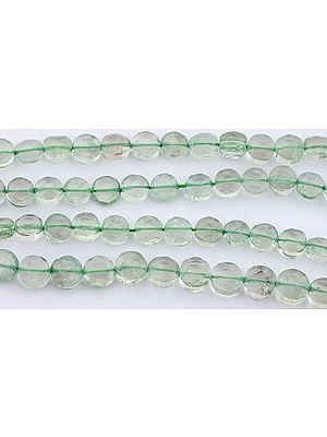Faceted Green Amethyst Coins
