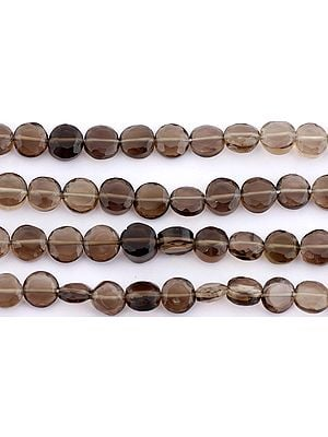 Faceted Smoky Quartz Coins