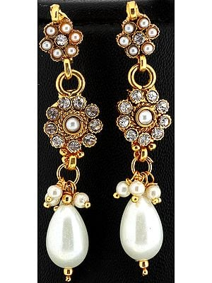 Faux Pearl Earrings