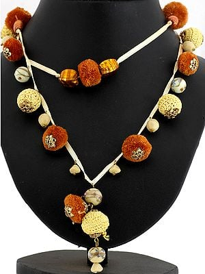 Tri-color Ethnic Necklace